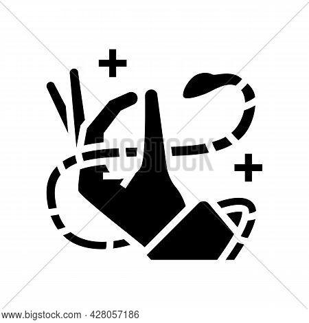 Snake Meditation Boho Glyph Icon Vector. Snake Meditation Boho Sign. Isolated Contour Symbol Black I