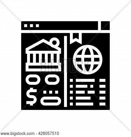 Opening Correspondent Accounts Glyph Icon Vector. Opening Correspondent Accounts Sign. Isolated Cont