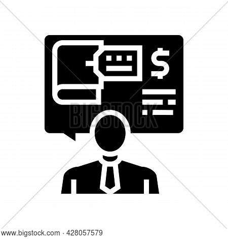 Advising Clients On Regulatory Issues Glyph Icon Vector. Advising Clients On Regulatory Issues Sign.