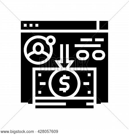 Cash Withdrawal Glyph Icon Vector. Cash Withdrawal Sign. Isolated Contour Symbol Black Illustration