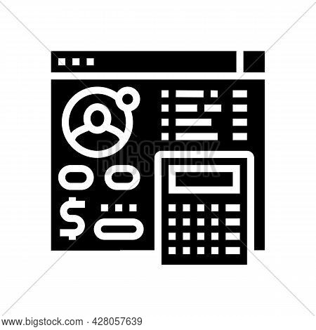 Settlements On Behalf Of Clients Glyph Icon Vector. Settlements On Behalf Of Clients Sign. Isolated