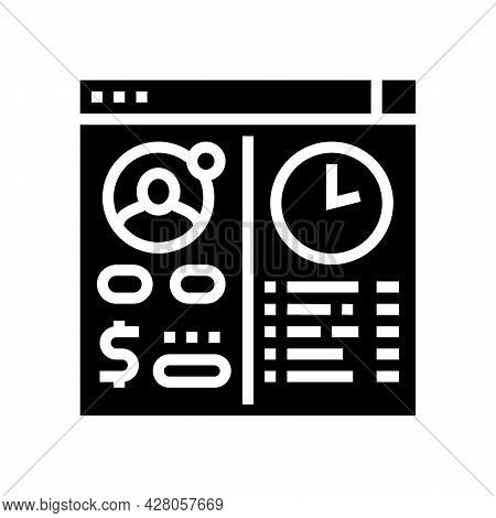 Opening Temporary Account Glyph Icon Vector. Opening Temporary Account Sign. Isolated Contour Symbol