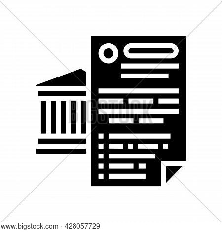 Possibility Of Using Various Banking Products Glyph Icon Vector. Possibility Of Using Various Bankin