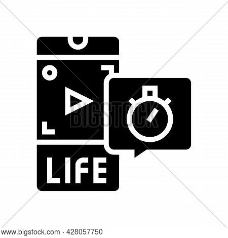 Live Video Ephemeral Glyph Icon Vector. Live Video Ephemeral Sign. Isolated Contour Symbol Black Ill