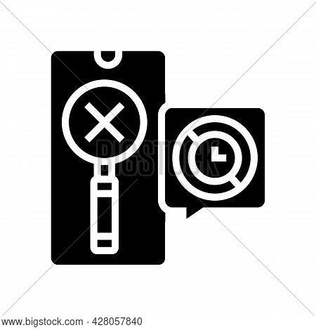 Research Ephemeral Glyph Icon Vector. Research Ephemeral Sign. Isolated Contour Symbol Black Illustr