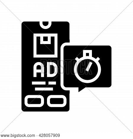 Delivering Advertise Ephemeral Glyph Icon Vector. Delivering Advertise Ephemeral Sign. Isolated Cont