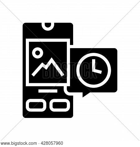Digital Image Ephemeral Glyph Icon Vector. Digital Image Ephemeral Sign. Isolated Contour Symbol Bla