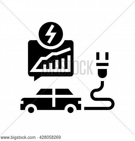 Energy Saving Transport Glyph Icon Vector. Energy Saving Transport Sign. Isolated Contour Symbol Bla