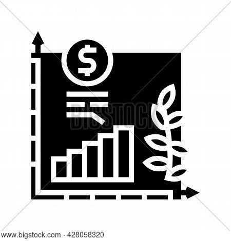 Economics Growth Glyph Icon Vector. Economics Growth Sign. Isolated Contour Symbol Black Illustratio