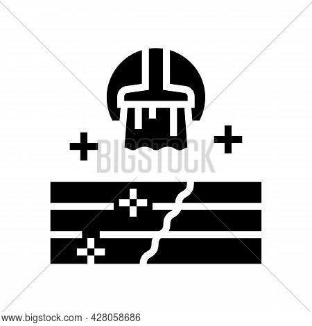 Deck And Patio Repair Glyph Icon Vector. Deck And Patio Repair Sign. Isolated Contour Symbol Black I