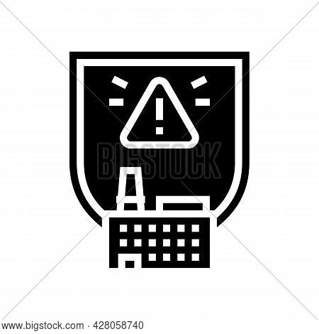 Special Hazardous Environments Glyph Icon Vector. Special Hazardous Environments Sign. Isolated Cont