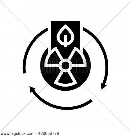 Hazardous Materials Management Glyph Icon Vector. Hazardous Materials Management Sign. Isolated Cont