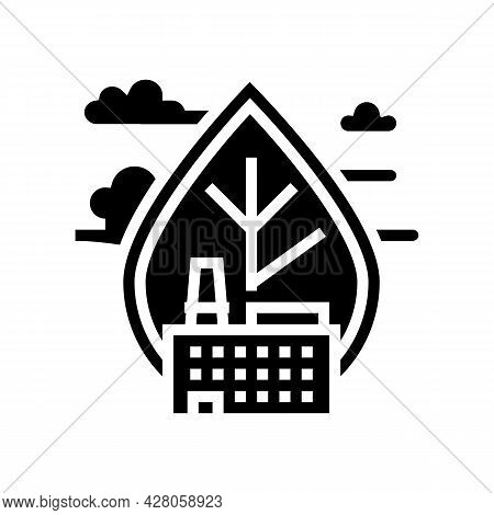 Air Emissions And Ambient Air Quality Glyph Icon Vector. Air Emissions And Ambient Air Quality Sign.