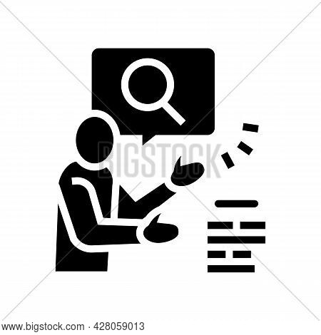 Advertising Consumer Glyph Icon Vector. Advertising Consumer Sign. Isolated Contour Symbol Black Ill