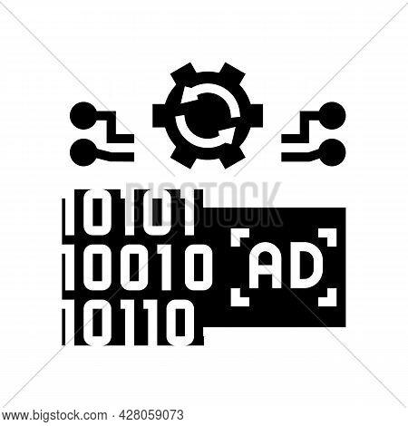 Omni Channel Advertisements Glyph Icon Vector. Omni Channel Advertisements Sign. Isolated Contour Sy