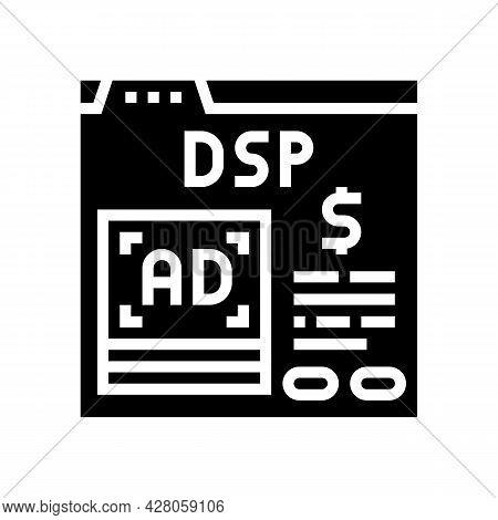 Digital Signal Processor Glyph Icon Vector. Digital Signal Processor Sign. Isolated Contour Symbol B