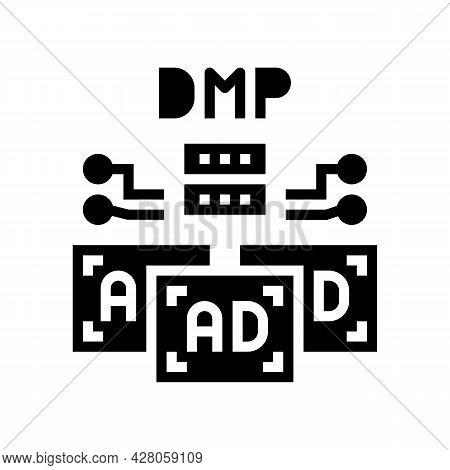 Data Management Platform Glyph Icon Vector. Data Management Platform Sign. Isolated Contour Symbol B