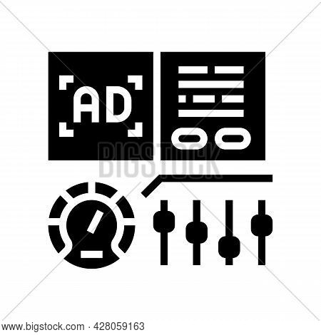 Optimization Of Advertising Glyph Icon Vector. Optimization Of Advertising Sign. Isolated Contour Sy