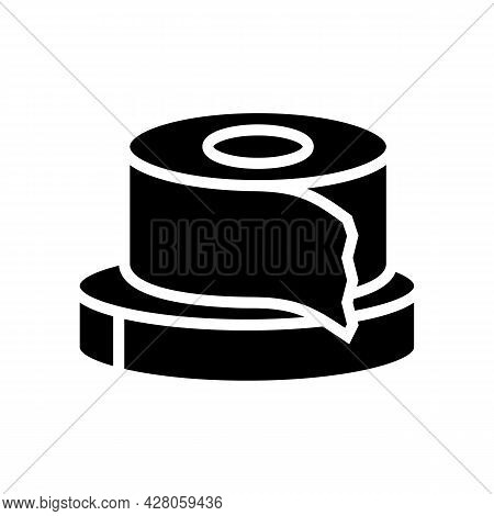 Scotch Tape Resin Art Glyph Icon Vector. Scotch Tape Resin Art Sign. Isolated Contour Symbol Black I