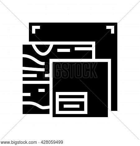Canvas And Material Resin Art Glyph Icon Vector. Canvas And Material Resin Art Sign. Isolated Contou