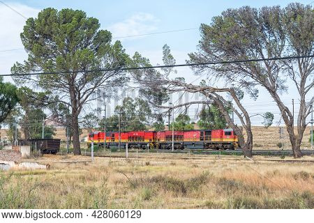 Rosmead, South Africa - April 22, 2021: Diesel-electric Locomotives At Rosmead Railway Station Near