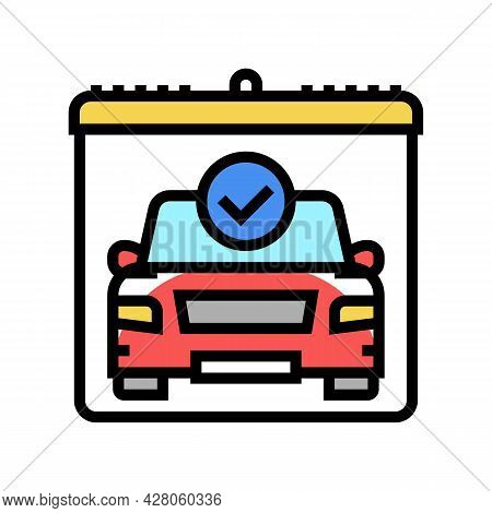Drivers Day Of Test Color Icon Vector. Drivers Day Of Test Sign. Isolated Symbol Illustration