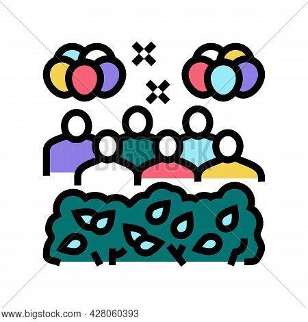 Jungle Safari Kids Party Color Icon Vector. Jungle Safari Kids Party Sign. Isolated Symbol Illustrat