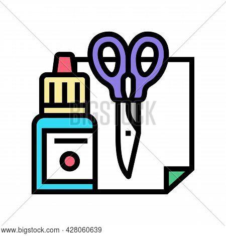 Handmade Tools Kindergarten Color Icon Vector. Handmade Tools Kindergarten Sign. Isolated Symbol Ill