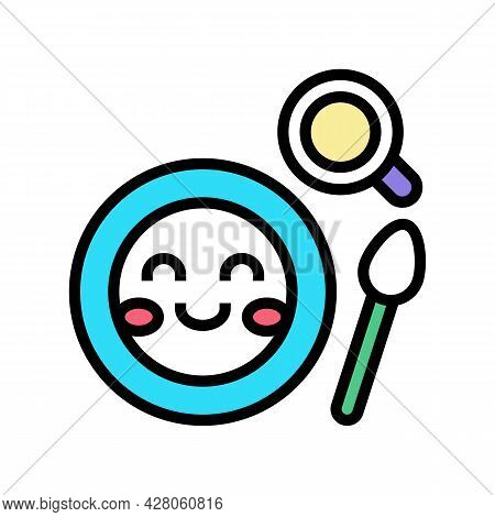 Lunch Dish Kindergarten Color Icon Vector. Lunch Dish Kindergarten Sign. Isolated Symbol Illustratio