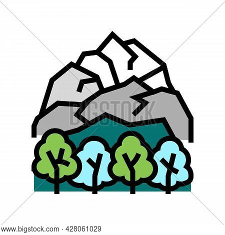 Tundra Landscape Color Icon Vector. Tundra Landscape Sign. Isolated Symbol Illustration