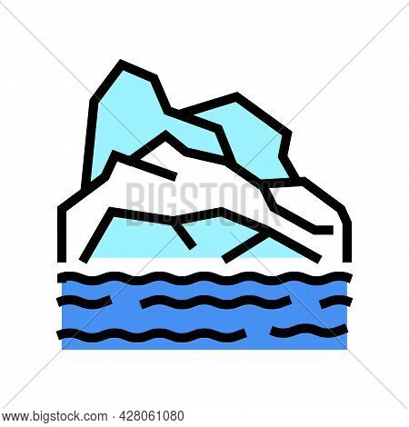 Arctic Land Color Icon Vector. Arctic Land Sign. Isolated Symbol Illustration