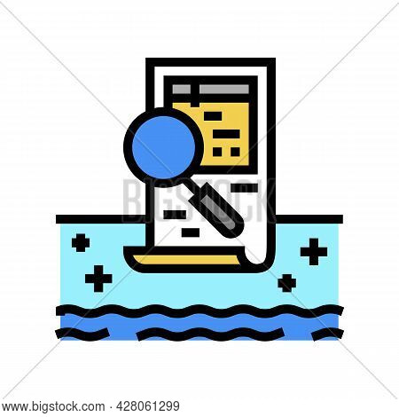 Pool Inspection Services Color Icon Vector. Pool Inspection Services Sign. Isolated Symbol Illustrat