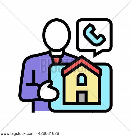 Property Landlord Color Icon Vector. Property Landlord Sign. Isolated Symbol Illustration