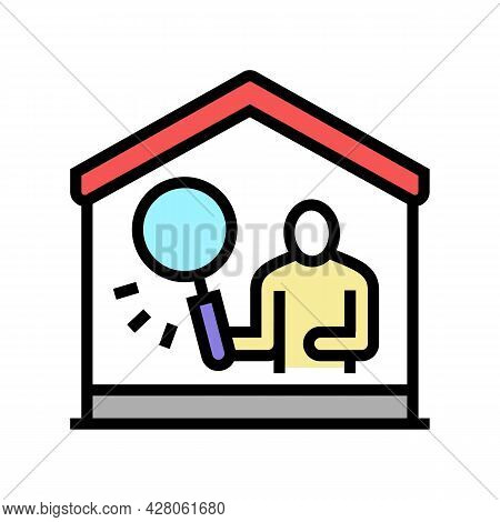 Property Inspection Color Icon Vector. Property Inspection Sign. Isolated Symbol Illustration