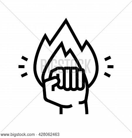 Strong Power Businessman Line Icon Vector. Strong Power Businessman Sign. Isolated Contour Symbol Bl