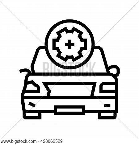 Body Damage Repair Line Icon Vector. Body Damage Repair Sign. Isolated Contour Symbol Black Illustra