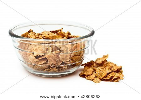 Cereal Diet In A Transparent Bowl