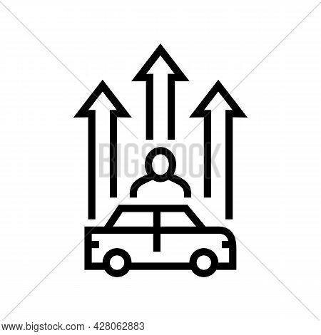 Mature Driver Improvement Course Line Icon Vector. Mature Driver Improvement Course Sign. Isolated C