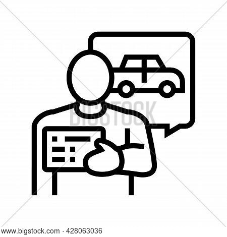 Getting Drivers License Line Icon Vector. Getting Drivers License Sign. Isolated Contour Symbol Blac
