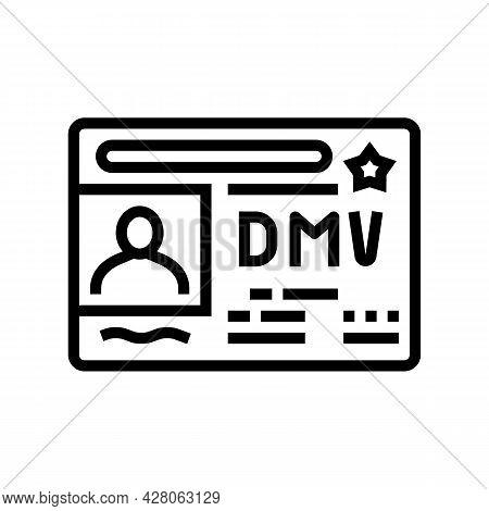 Dmv Driver License Requirements Line Icon Vector. Dmv Driver License Requirements Sign. Isolated Con