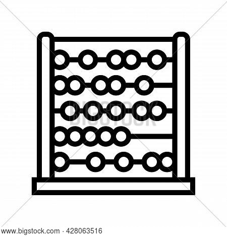 Abacus Kindergarten Line Icon Vector. Abacus Kindergarten Sign. Isolated Contour Symbol Black Illust