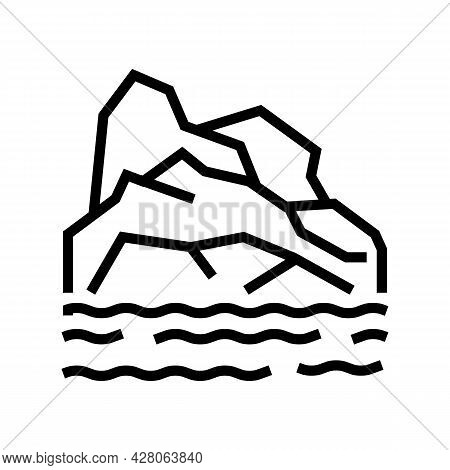 Arctic Land Line Icon Vector. Arctic Land Sign. Isolated Contour Symbol Black Illustration