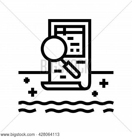 Pool Inspection Services Line Icon Vector. Pool Inspection Services Sign. Isolated Contour Symbol Bl