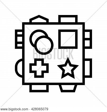Early Learning Toys Line Icon Vector. Early Learning Toys Sign. Isolated Contour Symbol Black Illust
