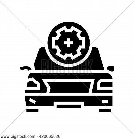 Body Damage Repair Glyph Icon Vector. Body Damage Repair Sign. Isolated Contour Symbol Black Illustr