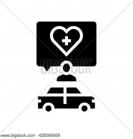 Medical Driving Conditions Glyph Icon Vector. Medical Driving Conditions Sign. Isolated Contour Symb