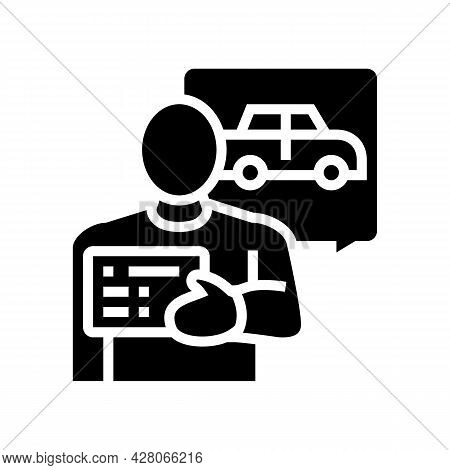 Getting Drivers License Glyph Icon Vector. Getting Drivers License Sign. Isolated Contour Symbol Bla