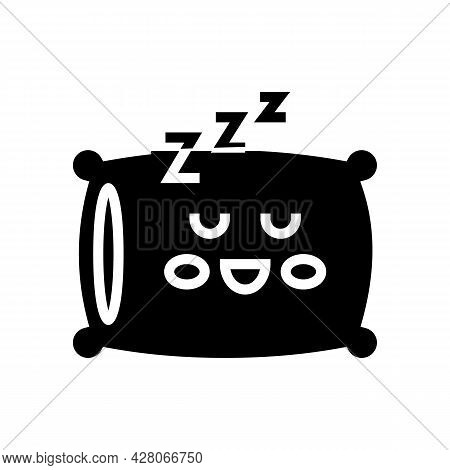 Sleeping Time Kindergarten Glyph Icon Vector. Sleeping Time Kindergarten Sign. Isolated Contour Symb