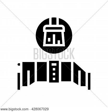 Salt Cell Maintenance Glyph Icon Vector. Salt Cell Maintenance Sign. Isolated Contour Symbol Black I