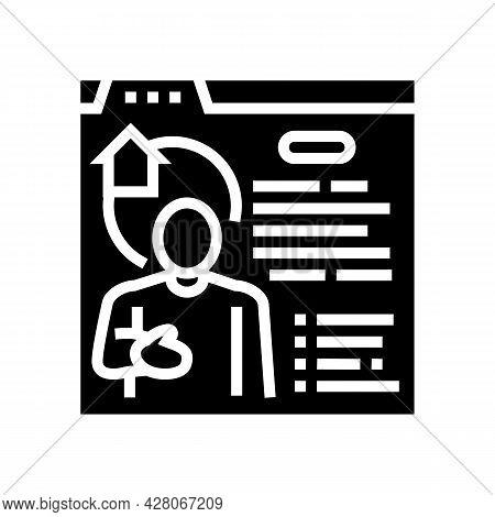 Realtor Services Glyph Icon Vector. Realtor Services Sign. Isolated Contour Symbol Black Illustratio